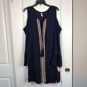 Xhilration cold shoulder dress